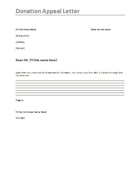 sle of a charity appeal letter sle appeal letters a collection of education ideas to