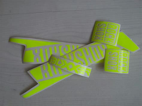 Rock Shox Aufkleber Neon Gelb by Rahmensticker Rock Shox Boxxer 2016 Gabel Aufkleber Satz