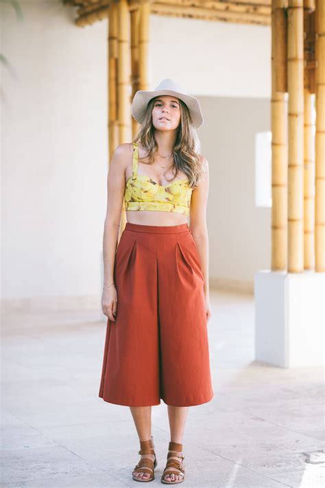 top ideas culottes crop top outfit ideas outfit ideas hq