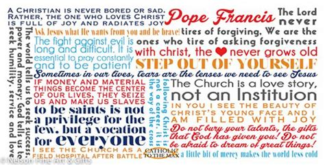 pope francis quote mug