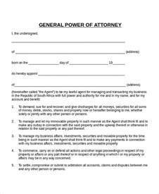 general power of attorney template 11 power of attorney templates free sle exle