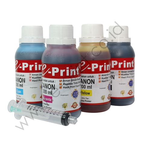 Canon Tinta E Print 200 by Tinta Bulk Ink Reguler 200ml E Print
