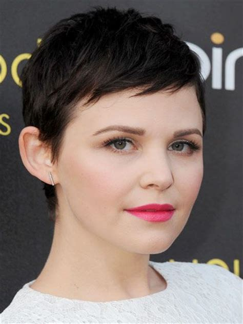 pixie haircuts with high forehead mini bangs make a pixie cut like ginnifer goodwin s