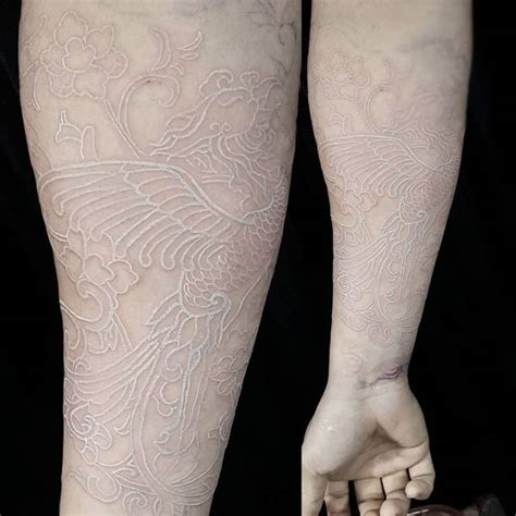 phoenix tattoo white ink 41 awesome white ink tattoos to inspire you