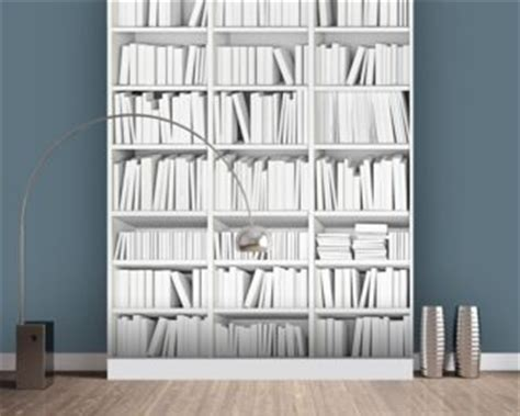 Brick Stone Logs Wallpaper Texture Wall Murals White Bookcase Wallpaper