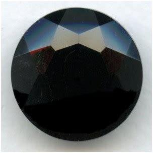 jet glass jewelry unfoiled 25mm