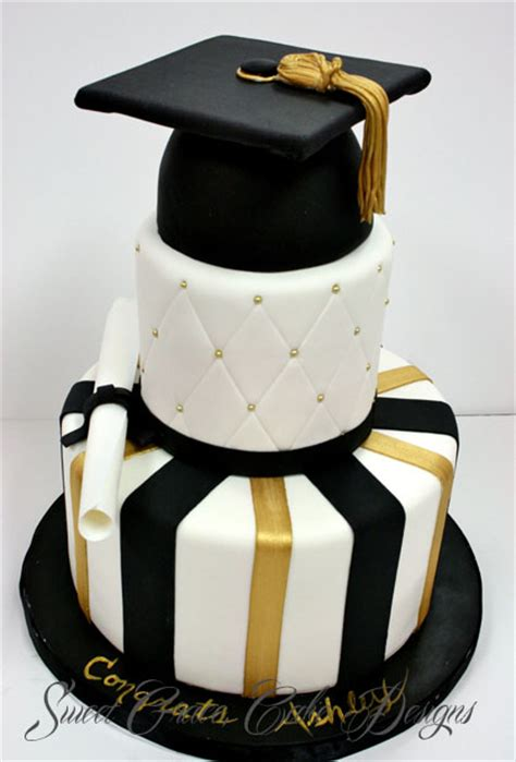 Graduation Cakes by Graduation Cakes New Jersey Silver And Black Custom Cakes