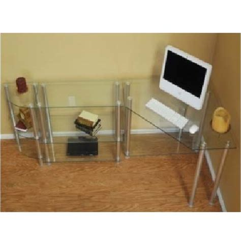 Corner Computer Desk With Extension by Rta Glass Corner Computer Desk With Extension Table And
