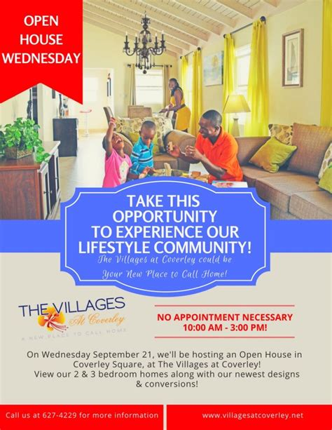 the villages open houses open house wednesday at the villages at coverley what s on in barbados