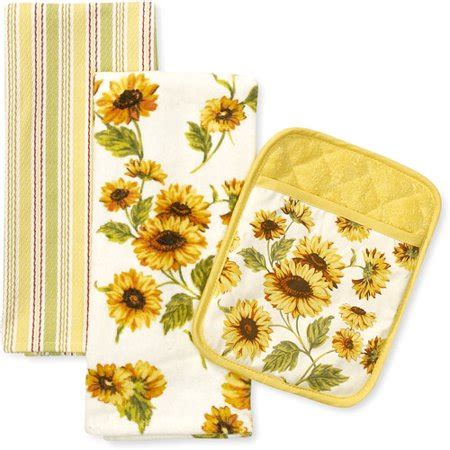 Sunflower Kitchen Towels better homes and gardens sunflower kitchen towel and pot