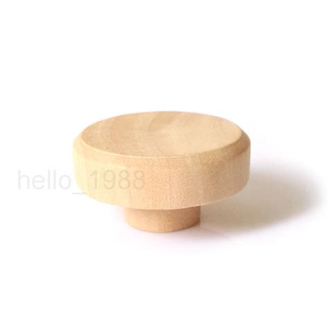 Wooden Cabinet Knobs by Aliexpress Buy 10pcs 37mm No Paint Wooden Cabinet
