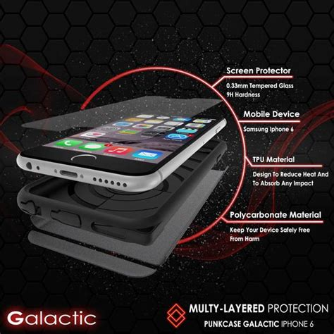 Tempered Glass V Apple Iphone 7 47 iphone 6s 6 punkcase galactic black series slim