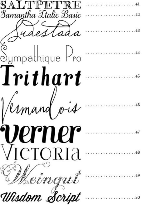 Wedding Fonts by Merry Brides 50 Fonts Best Fonts For Wedding Invitations