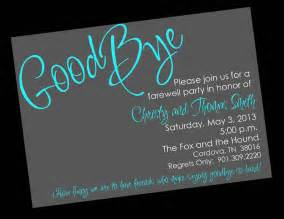 Going Away Template by Free Printable Invitation Templates Going Away