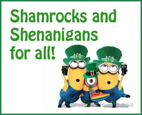 st s day minion pics 1000 st patricks day quotes on st s