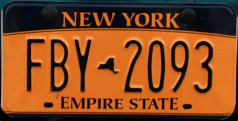 license nyc new york license plate empire gold albany