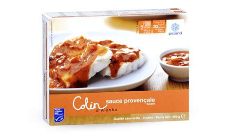 plats cuisin駸 surgel駸 colin d alaska msc 224 la proven 231 ale surgel 233 s les plats