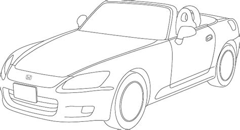 cartoon sports car black and white car cartoon transportation blueprint out sports