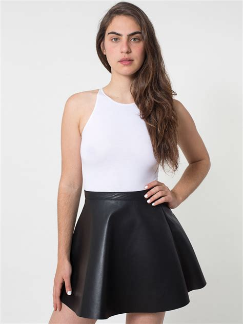 lambskin leather circle skirt american apparel