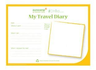 trip diary template each template has room for photos and journaling and the