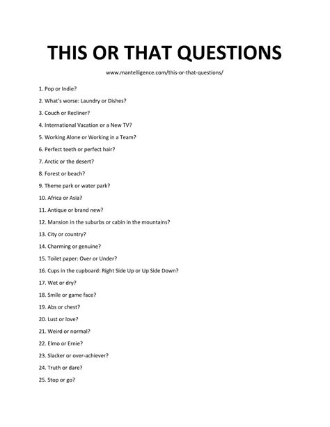 Or Questions 101 This Or That Questions Thought Provoking Conversation Starters