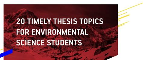 dissertation topics in environmental science dissertation writing help