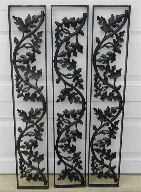 Decorative Metal Porch Posts by Cast Wrought Iron Porch Decorative Pillars Posts Acorn