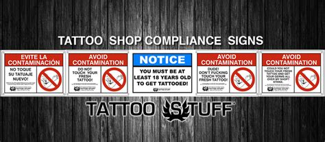 tattoo shop signs shop compliance signs stuff