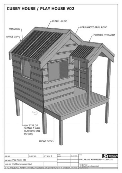 plans for cubby houses cubby house play house build one with your children full building plans v2