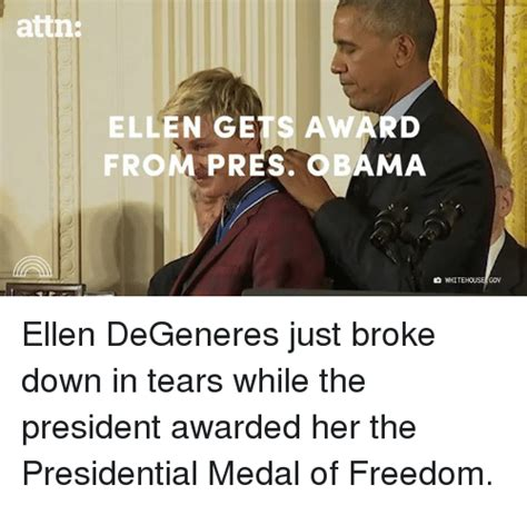 Ellen Degeneres Meme - 25 best memes about presidential medal of freedom