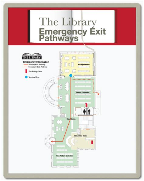 emergency exit floor plan floor plan signs you design and print in snap frames