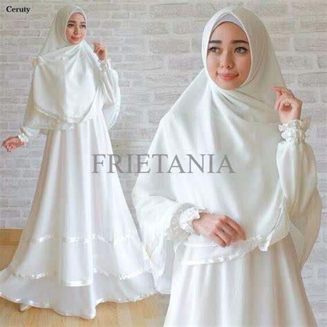 Baju Gamis Putih Gamis Umroh Baju Haji Baju Manasik Dress Muslim Putih Jual Gamis Ceruti White Gamis Putih Baju Gamis Umroh