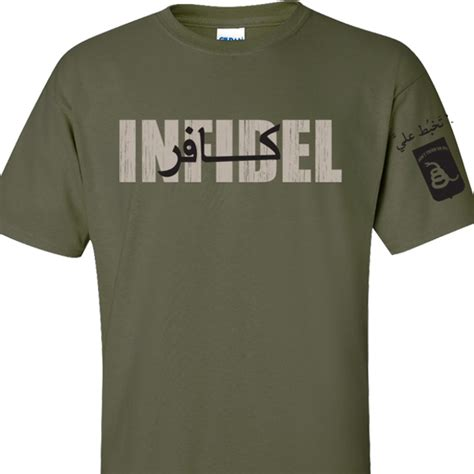 gadsden and culpeper infidel t shirt front and sleeve