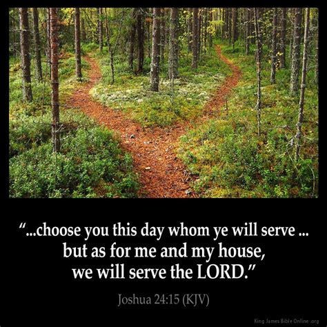 as for me and my house kjv joshua 24 15 inspirational image