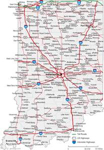 Indiana State Road Map by Indiana License Plates