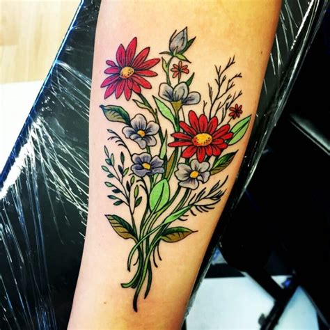 224 most attractive flower tattoos and their meanings