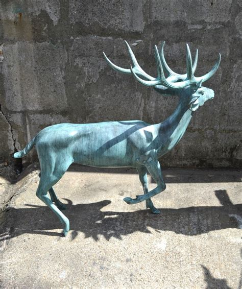 regent antiques bronzes impressive size 3ft 6 quot bronze reindeer statue