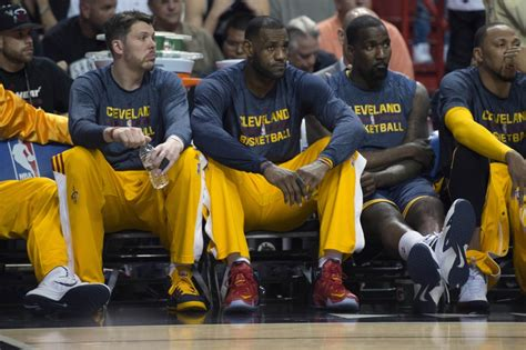 lebron on the bench cleveland cavaliers 5 must see games in 2015 16