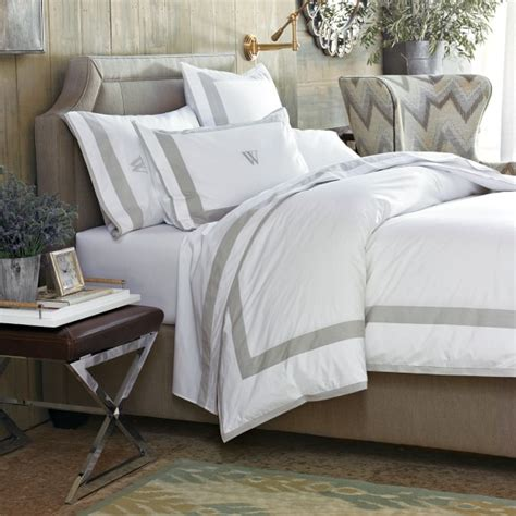 percale border bedding williams sonoma