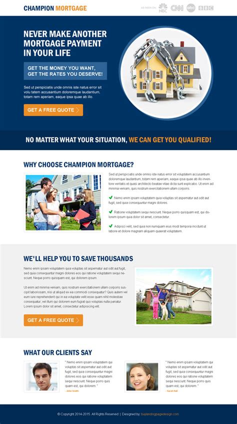 mortgage landing page templates 22 most converting responsive landing pages to boost your