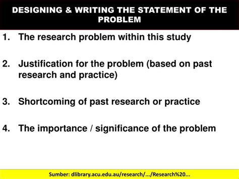 statement of the problem research paper sle how to write statement of the problem in research paper