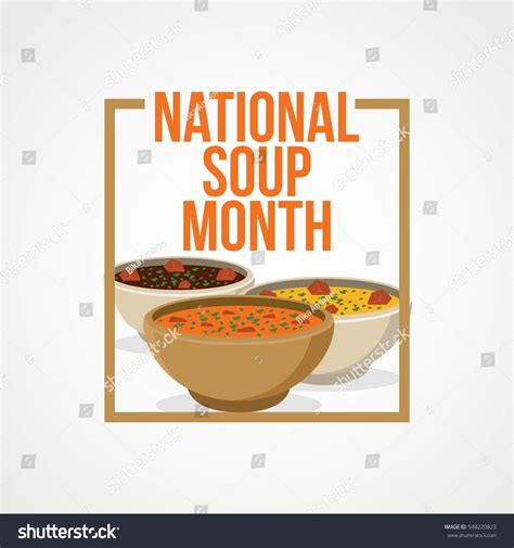 national month national soup month vector illustration stock vector
