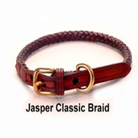 Handmade Leather Collars And Leashes - braided leather collar l custom made leather collar