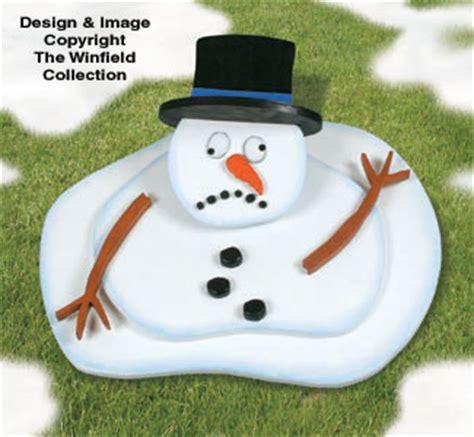 snowmen melting snowman woodcraft pattern