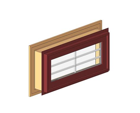 wooden awning windows bim objects families