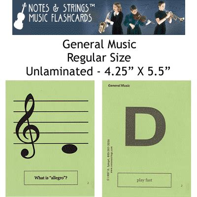 genera music general music 4 25 quot x5 5 quot music flashcards by n s ebay