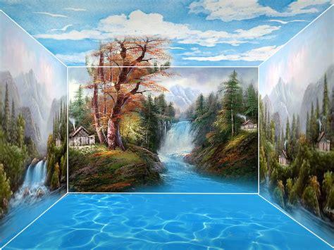 wallpaper pemandangan alam 3d contoh gambar lukisan contoh win