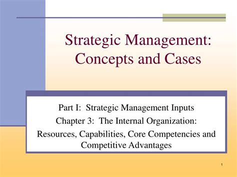 Strategic Management Pdf For Mba by Strategic Management Concepts And Cases Pdf