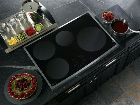 ge electric induction range ge profile php900smss 30 quot electric induction cooktop stainless steel sears outlet