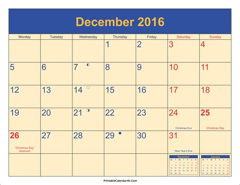 printable calendar december 2016 december 2016 calendar printable with holidays pdf and jpg